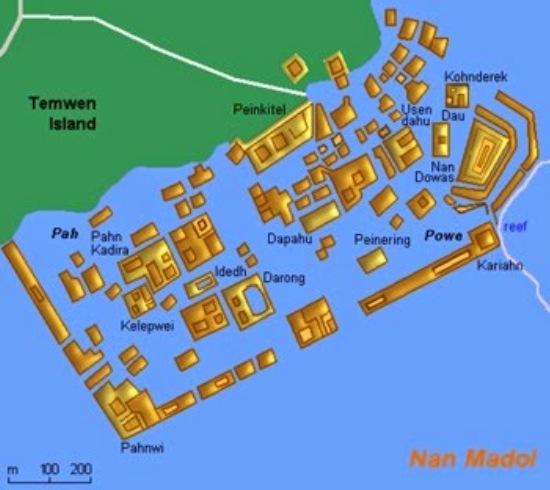 Construcciones - Nan Madol Mapa