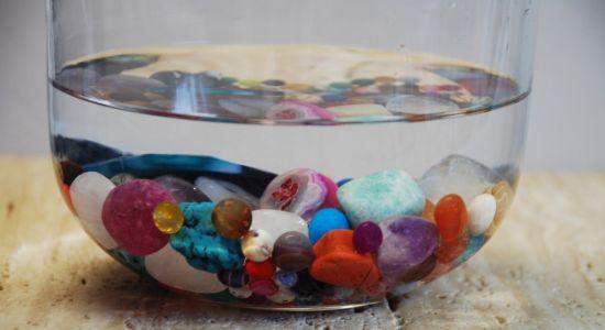 cristales agua