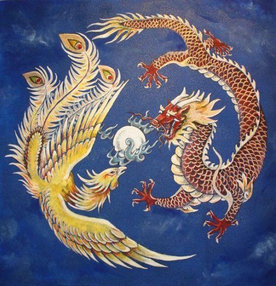 Dragón Chino - Ave Fenix