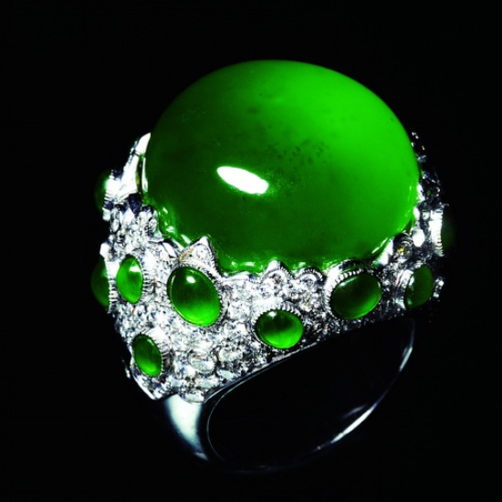 Jade verde - anillo