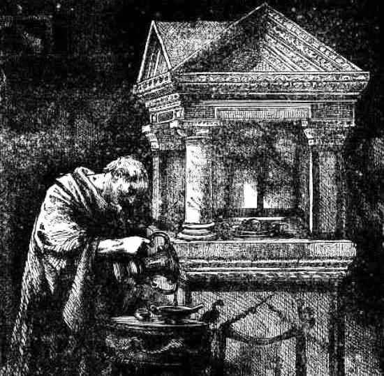 Festivales romanos de la muerte - Ritual de ofrendas