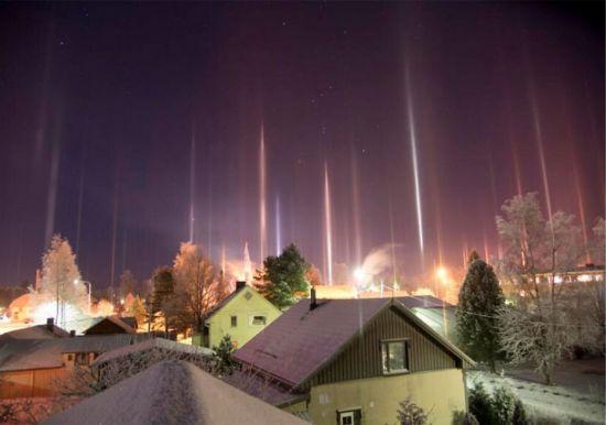 pilares de luz natural