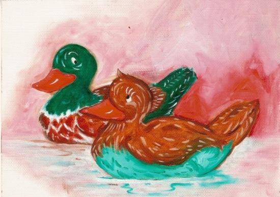 Pato mandarin - Pintura