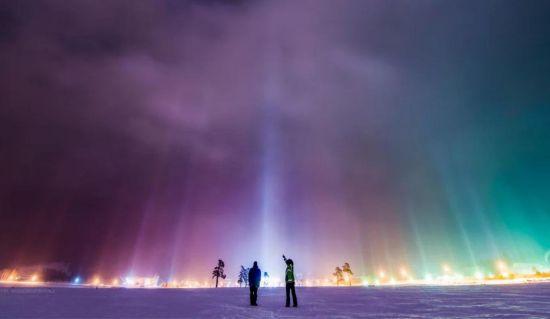 dónde ver pilares de luz