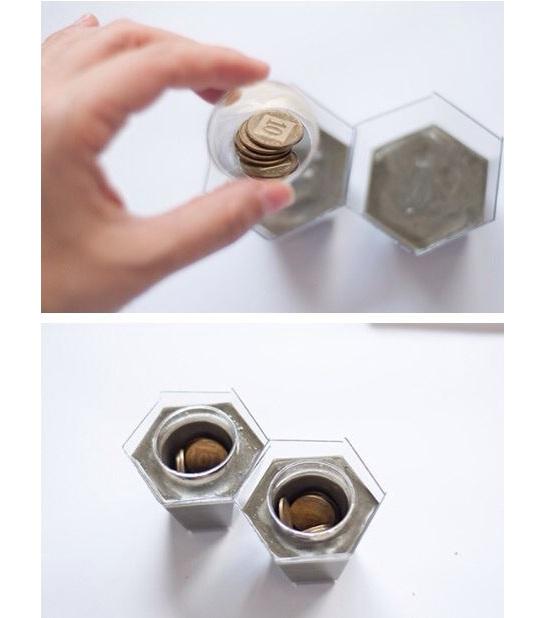 Portavelas - Monedas