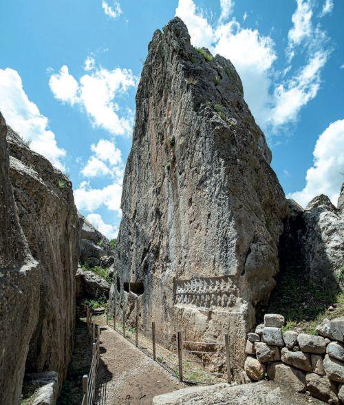 templo Yazilikaya de Turquía