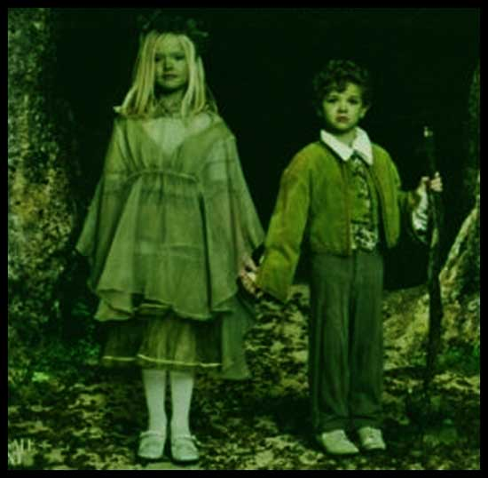 niños verdes woolpit paranormal