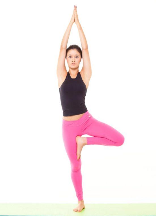 Postura de Yoga - El árbol