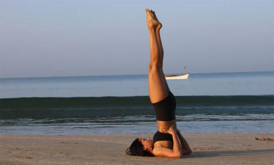 Postura de yoga - La vela