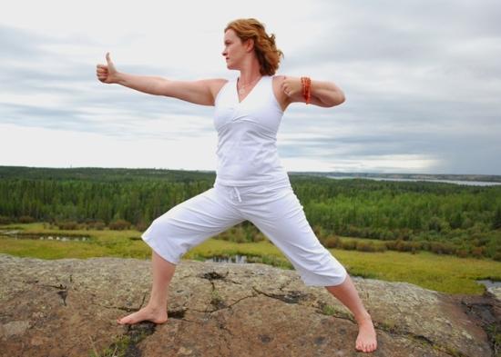 Postura de Yoga - El arquero