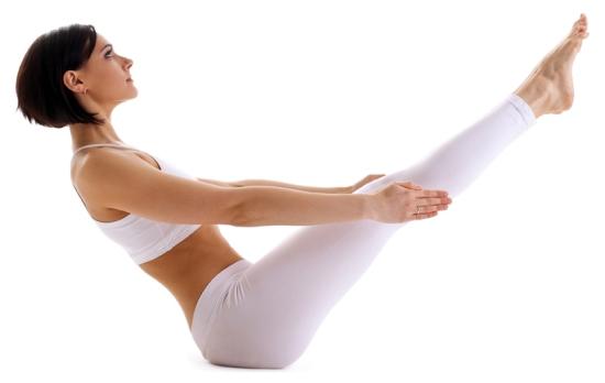 Postura de Yoga - El barco