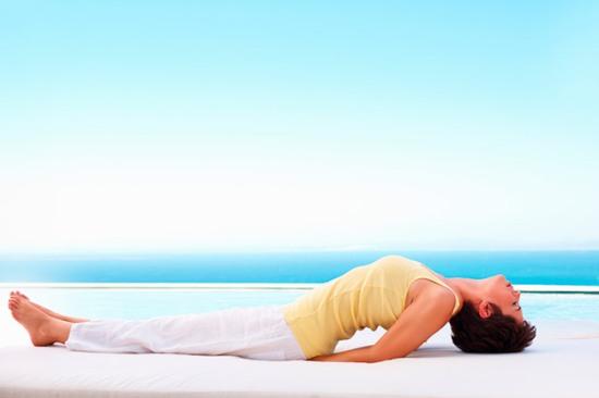 Postura de Yoga - El pez