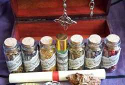 Set Botellas wicca + caja