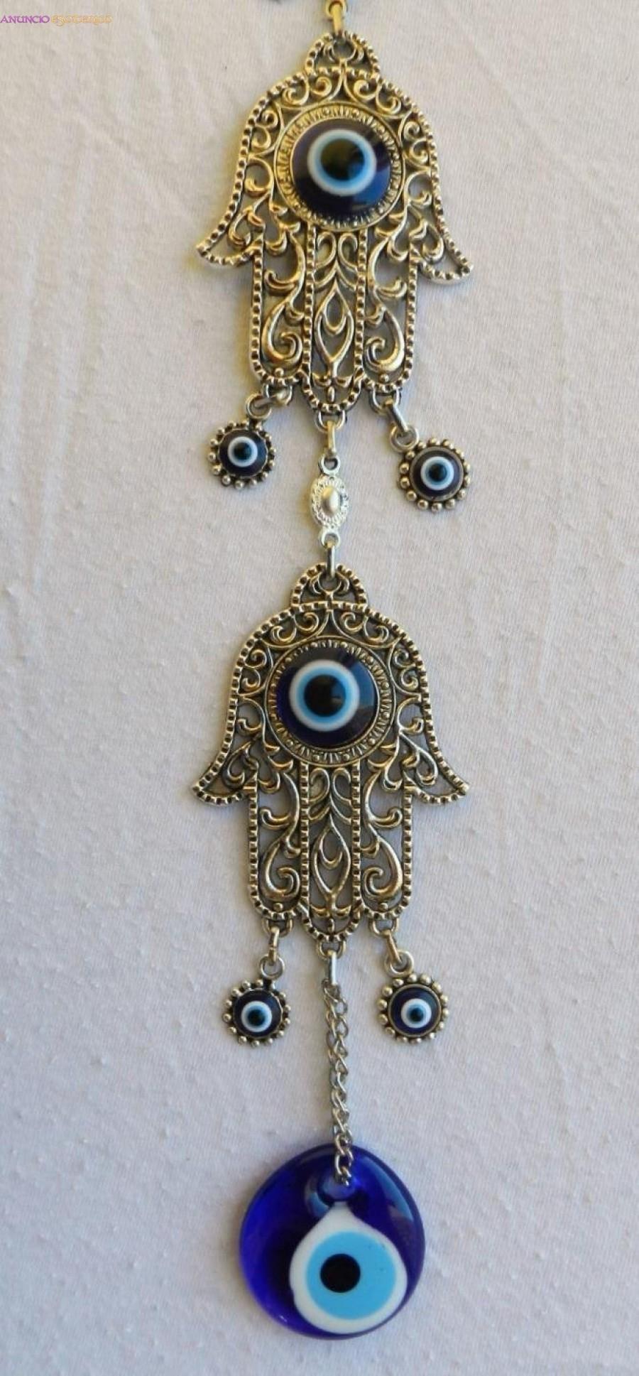 46bb2f6e2cc7 Colgante pared amuleto ojo turco y mano de fátima en Madrid